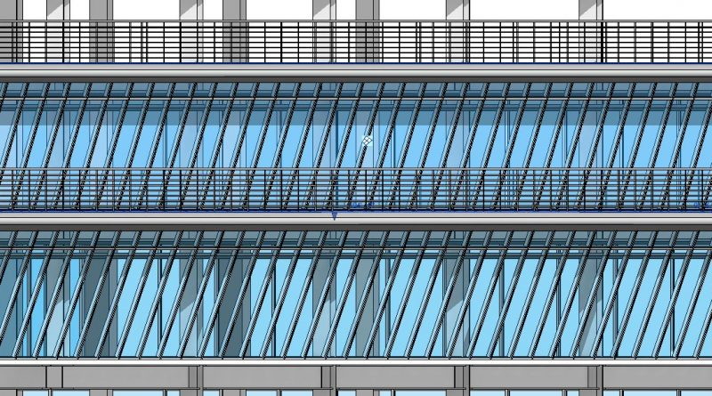 How to model angled slanted walls in Revit 2021